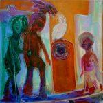 Das Erblinden in den Städten, Öl/ Baumwolle, 2005, 70 x 70