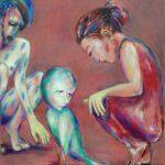Das Unbehagen, Öl/ Baumwolle, 2004, 120 x 90