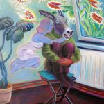 Zettels zeitweiliger Zustand, Öl/ Baumwolle, 2009, 170 x 130