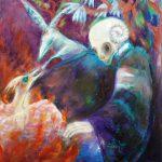 Feuertaufe, Öl/ Baumwolle, 2007, 120 x 90