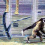 Malerei Gibbon