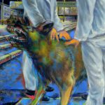 Herrenhund, Öl/Baumwolle, 2018, 120 x 90